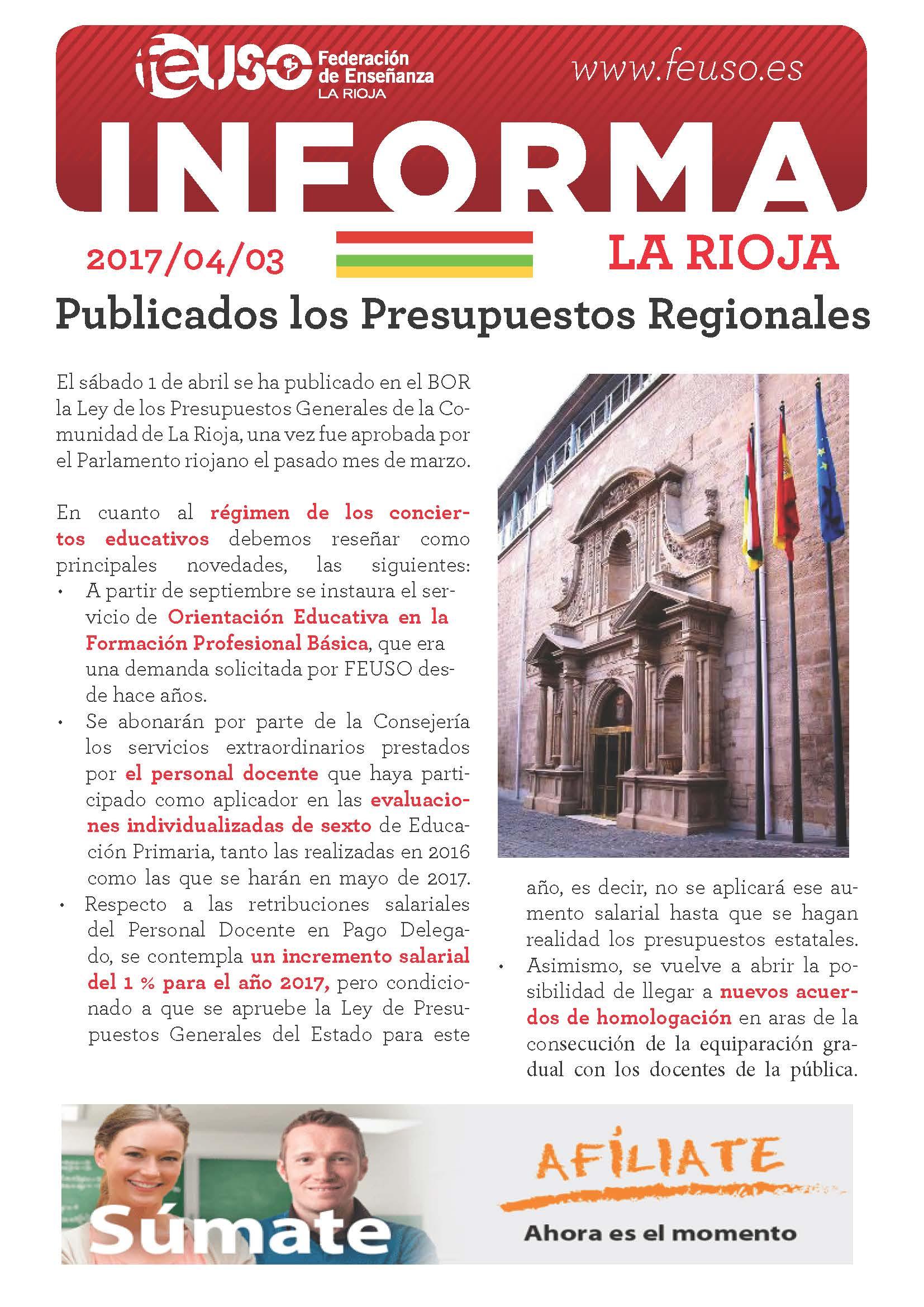 FEUSO INFORMA LA RIOJA 20170403